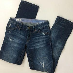 "Gap destructed dark easy straight womens jeans 28"""